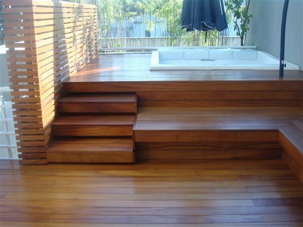 Decks de madeiras para picinas r 529 00 em mercado livre for Piscina desmontable 4x3
