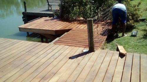 decks en todo tipo de madera. la mejor terminación