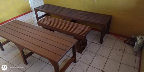 decks painels bancos e cachepôs de madeira