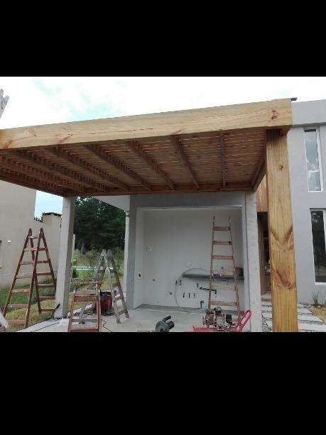 decks, pergolas de madera antigranizo construcciónes