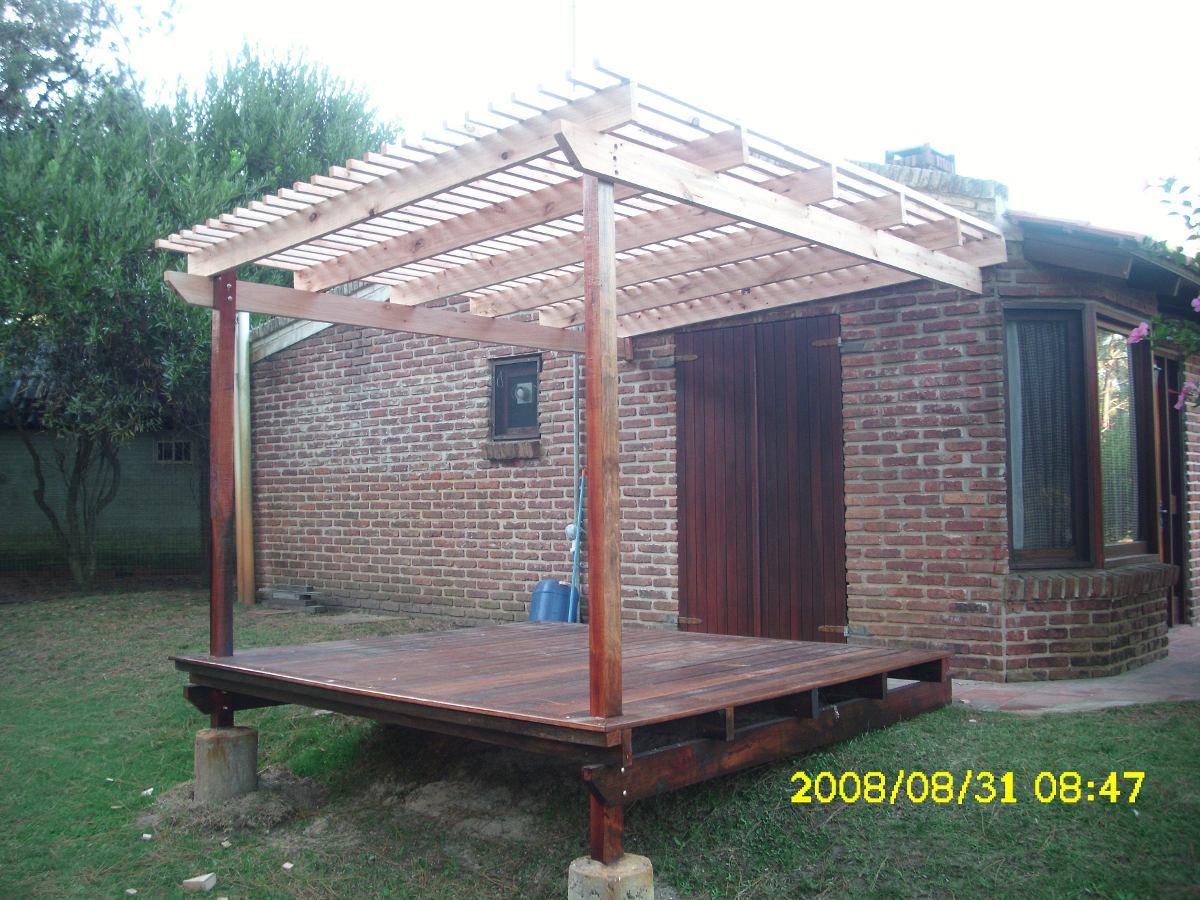 Decks pergolas de madera casas mobiliario postigos - Precio pergola madera ...