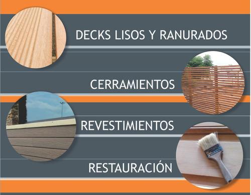 decks, techos y pérgolas, cerramientos   pisos  