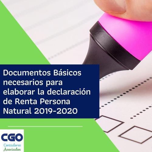 declaracion de renta persona natural 2019