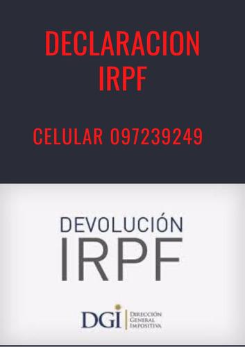 declaración irpf, devolución irpf