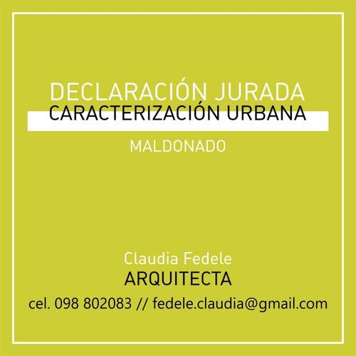 declaración jurada de caracterización urbana