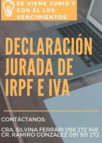 declaración jurada de irpf - iva