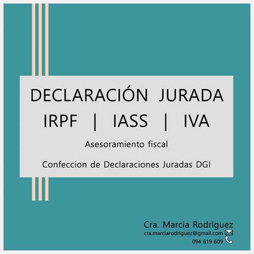 declaración jurada irpf iass iva
