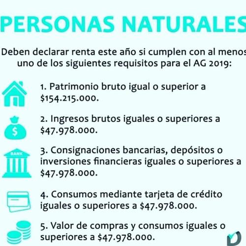 declaraciones de renta personas naturales