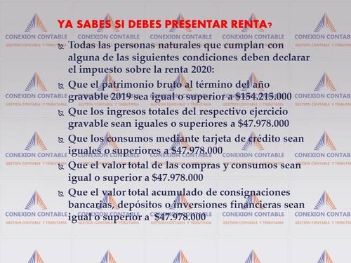 declaraciones de renta  y gestion contable y tributaria