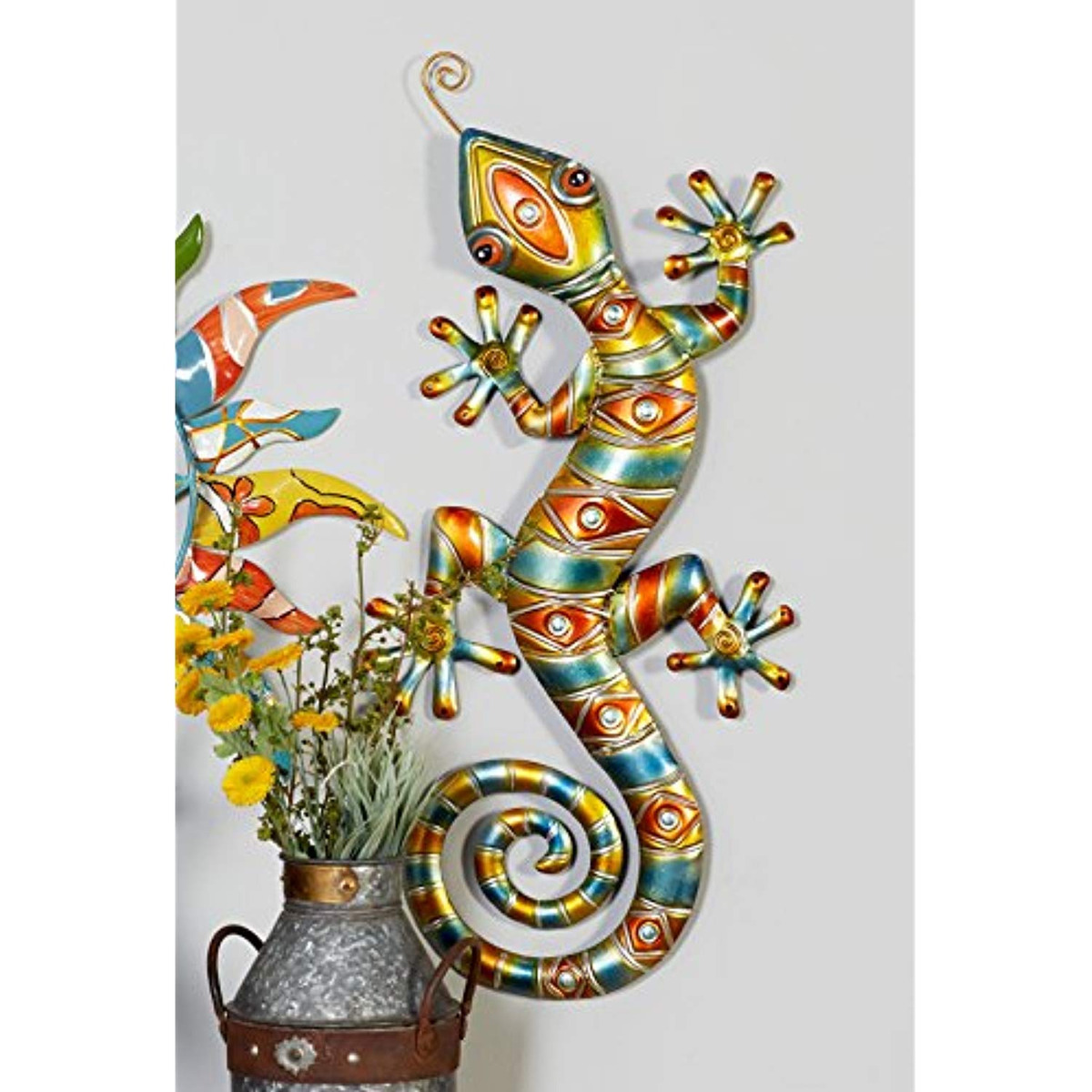 Deco 79 Metal Lizard Home Decor Wall Sculptures 30 By 14