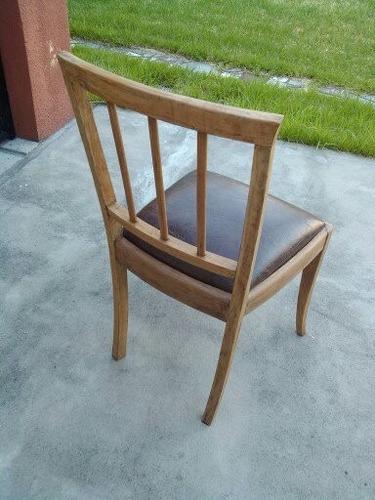 deco silla estilo campo cedro a la vista tapizado chocolate