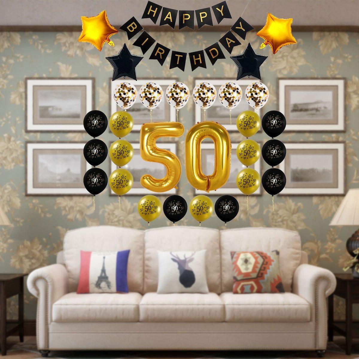 Decocheer 50 Cumpleaños Decoraciones Regalo Para Hombres Mu