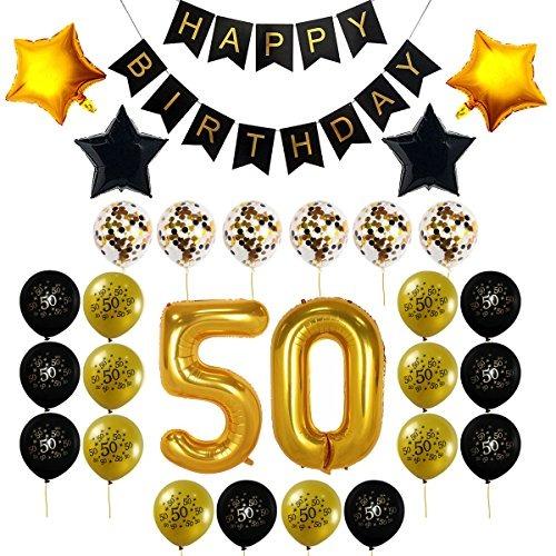 Decocheer 50 cumpleanos decoraciones regalo para los - Decoracion 50 cumpleanos ...