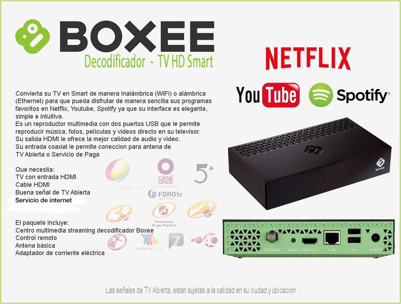 Decodificador Boxee Netflix Youtube Smart Tv Wifi