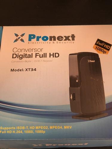 decodificador conversor  digital tda pronext xt34