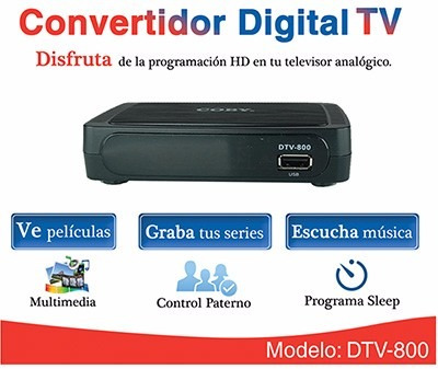 decodificador digital coby dtv-800