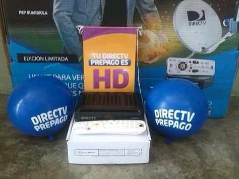decodificador directv prepago con antena plan gold