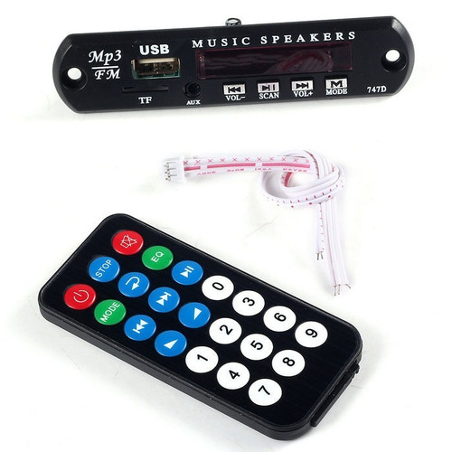 decodificador mp3 - sd, usb, mp3 controle remoto