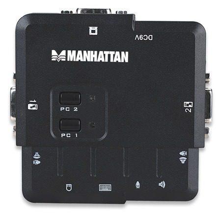 decodificador mux kvm desktop usb 2:1 manhattan 151252