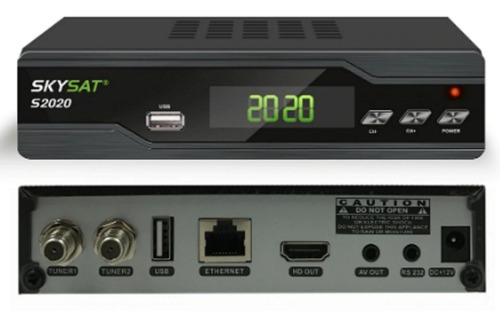 decodificador satelital fta c y banda ku señal 12 meses iks