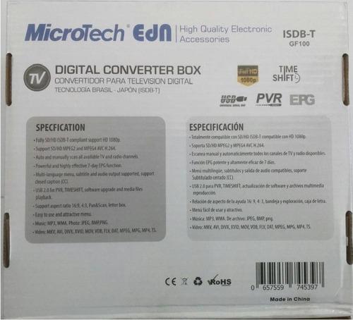decodificador sintonizador de tv digital