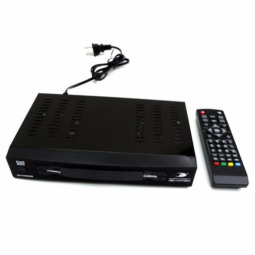 decodificador sintonizador tdt para tv  - negro