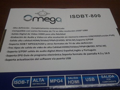 decodificador sintonizador tv digital hd graba isdbt tv powe
