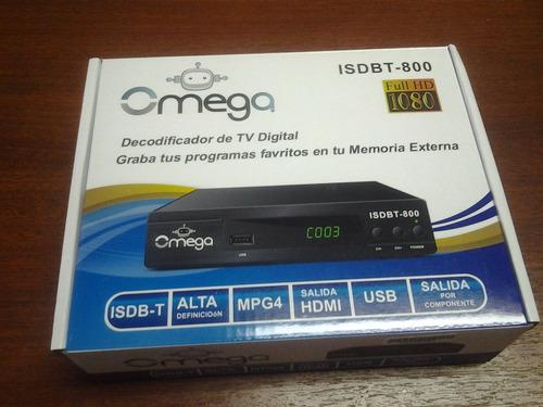 decodificador sintonizador tv digital hd grabador isdbt