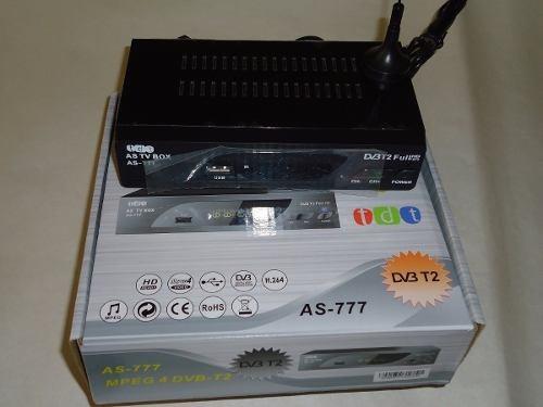 decodificador tdt + antena + cable hdmi+control