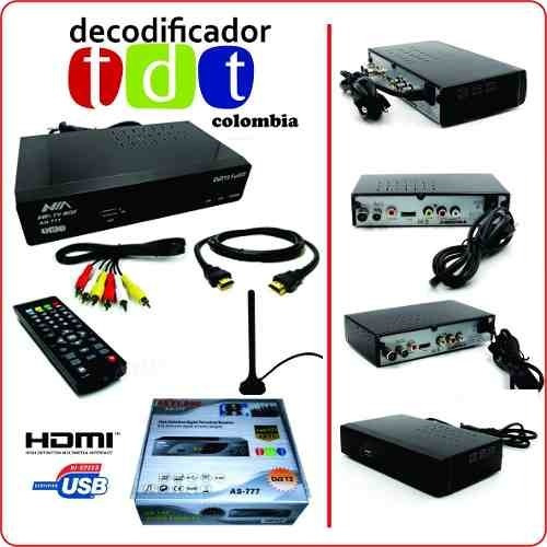 decodificador tdt dvbt2 ,antena,hdmi