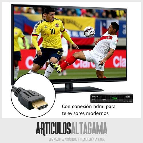 decodificador tdt krono tv digital dvb t2 + antena + hdmi