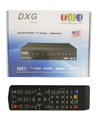 decodificador tdt receptor tv digital hd control hdmi
