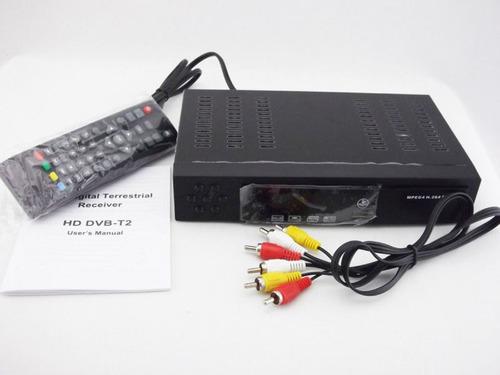 decodificador tdt satelital + antena + cable hdmi + gafas 3d