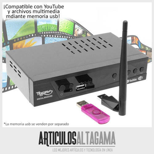 decodificador tdt tigers wifi youtube receptor tv digital