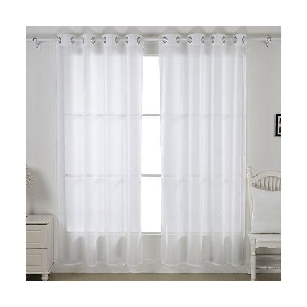 deconovo cortinas de lino ptica transparente cortina de la - Cortinas Lino