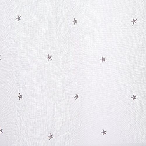 deconovo rod pocket pequeña estrella bordado sheer cortinas
