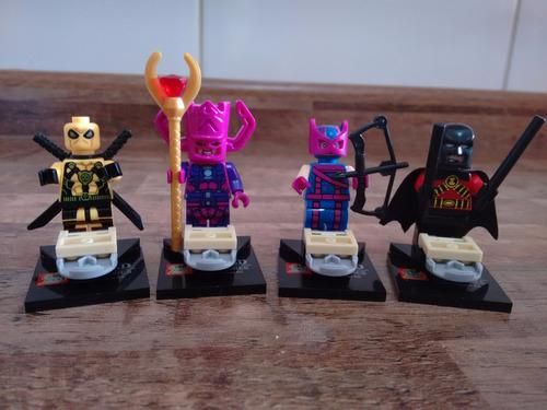 decool ( lego ) galactus fênix deadpool men cyborg red robin