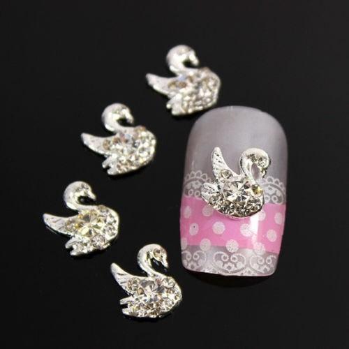 decoracion 10 uñas acrilico dijes bisuteria moños esteticas