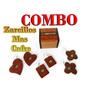 Combo De Cofre Joyero O Caja De Madera Pulida Y Zarcillos