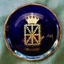 Plato Escudo Navarra Diseño Dorado Oro 24 K Colección España