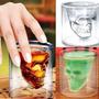 Vaso Copa Calavera Whisky 75 Ml Vidrio Cristalino Cráneo