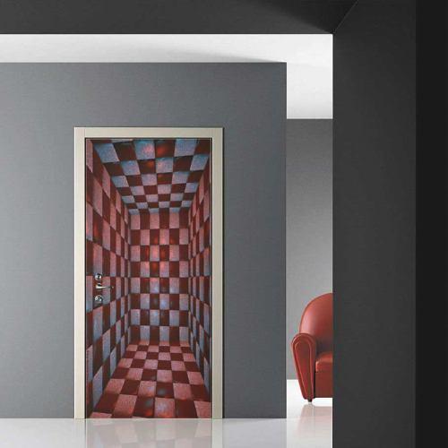 Decoracion adhesiva skin stickers para puertas - Papel para puertas ...