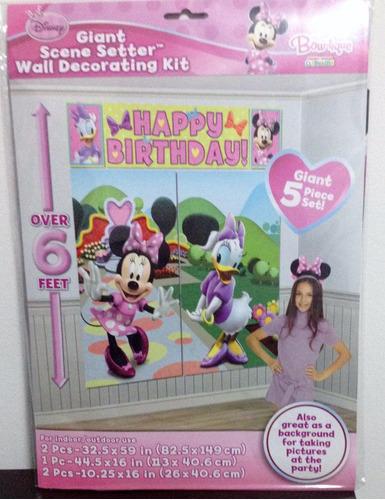 decoracion afiche fiesta gigante minnie mouse
