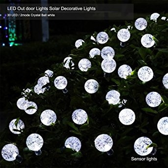 decoración al aire libre de la energía solar cadena luces d