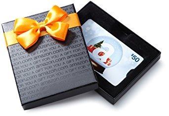 decoración amazon.com tarjeta de regalo en una caja de rega