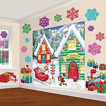 decoración amscan fiesta de navidad de las maravillas del i