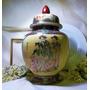 Jarrón Anfora De Ceramica China Pintado A Mano