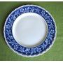 Antiguo Plato Ingles Marca Grinley Con Diseño Azul Y Blanco