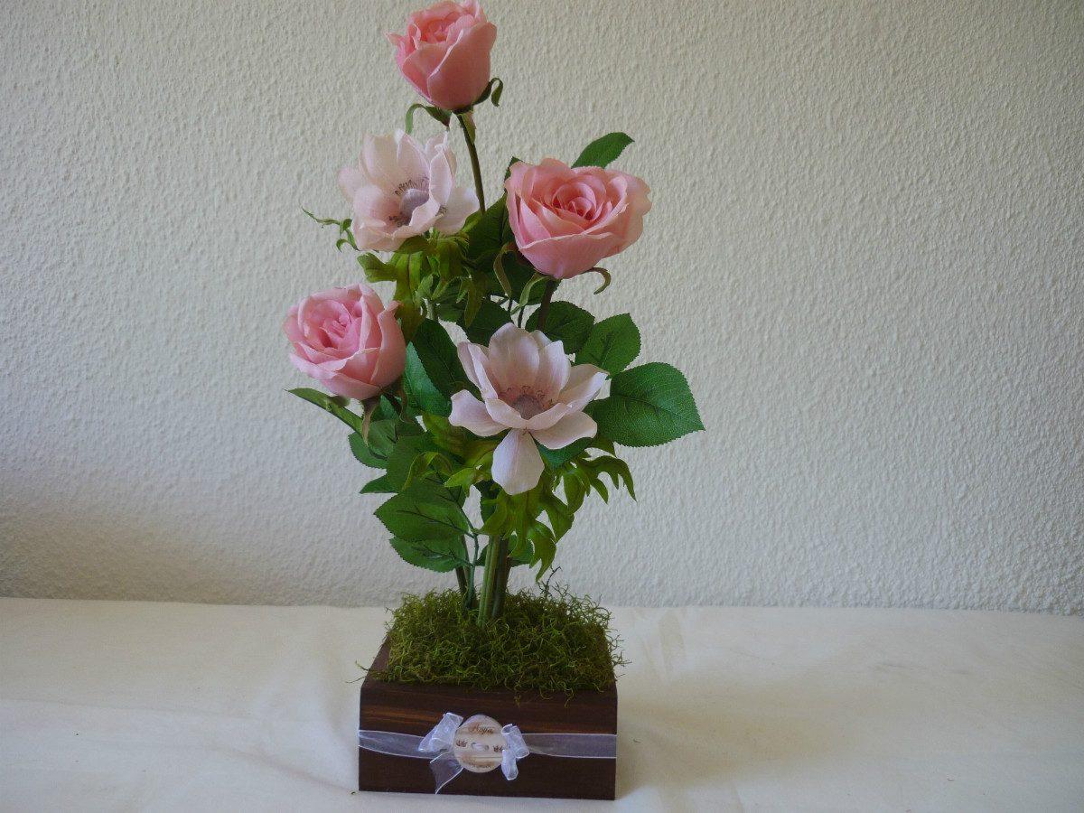 Decoracion arreglos florales flores artificial centro mesa - Centros navidenos de mesa ...