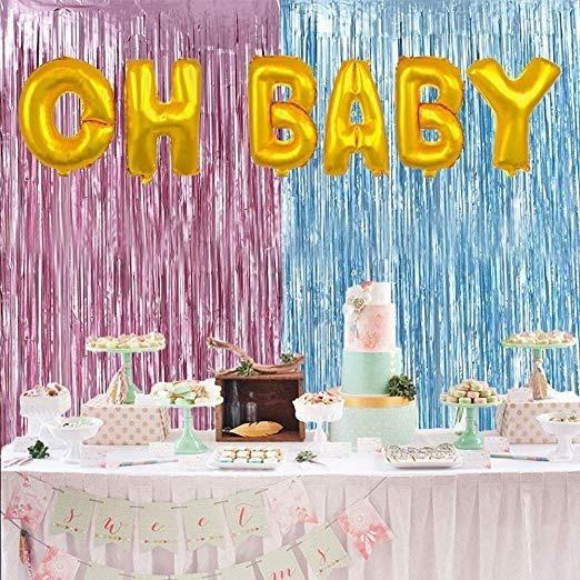 Decoracion Baby Shower Revelacion Genero Fiesta En Ingles